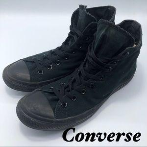 Converse-All Black Hi Top Classic Sneaker Men's 10